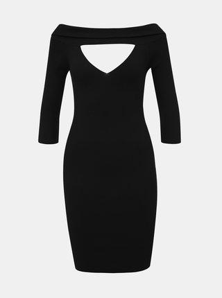 Černé pouzdrové šaty s průstřihy TALLY WEiJL Satu