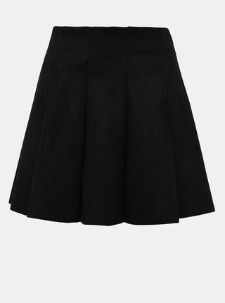 Čierna sukňa v semišovej úprave TALLY WEiJL Covia