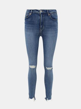 Modré zkrácené skinny fit džíny TALLY WEiJL Mart
