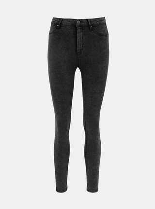 Tmavošedé skrátené push up skinny fit rifle TALLY WEiJL Pump