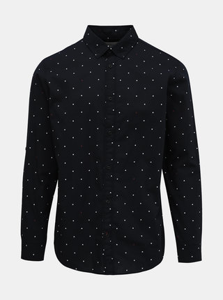 Tmavě modrá puntíkovaná košile Jack & Jones Aop