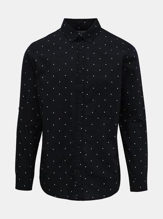 Tmavomodrá bodkovaná košeľa Jack & Jones Aop