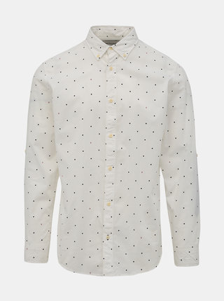 Bílá puntíkovaná košile Jack & Jones Aop