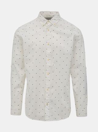 Biela bodkovaná košeľa Jack & Jones Aop