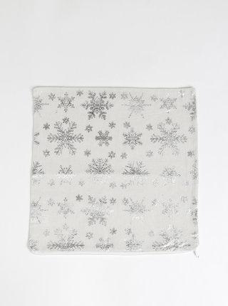 Krémový lněný povlak na polštář s vánočním motivem Dakls