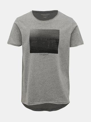 Šedé tričko Jack & Jones Dark