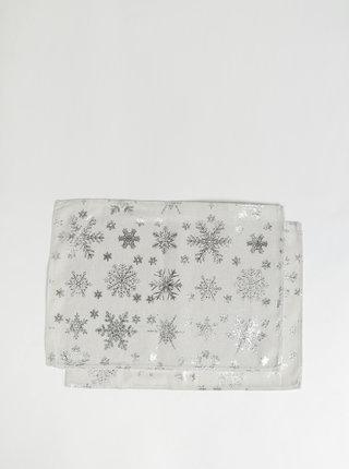 Sada dvou krémových lněných prostírání s vánočním motivem Dakls