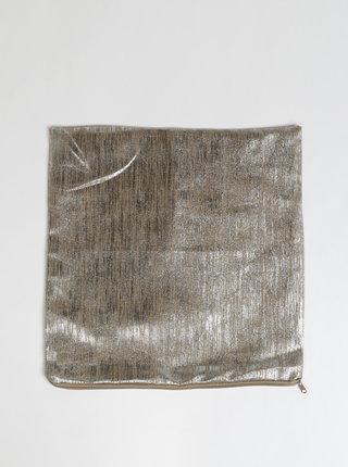 Ľanová obliečka na vankúš v hnedo-striebornej farbe Dakls