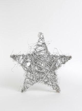 Světle šedá dekorace ve tvaru hvězdy Dakls 48 cm