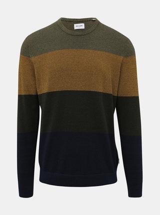 Kaki vzorovaný sveter ONLY & SONS Alex