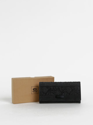 Čierna dámska vzorovaná kožená peňaženka Rip Curl High Desert