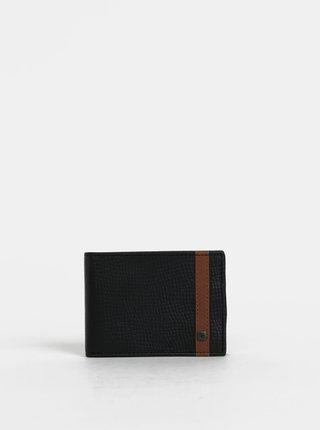 Čierna pánska kožená peňaženka Rip Curl Overlap
