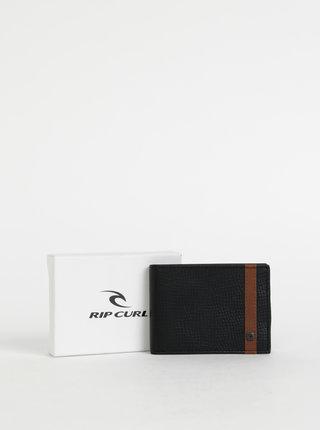Černá pánská kožená peněženka Rip Curl Overlap