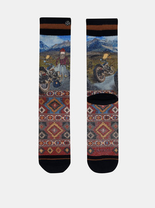 Modro-červené pánské ponožky XPOOOS