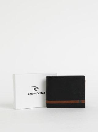 Černá pánská kožená peněženka s pouzdrem 2v1 Rip Curl Overlap