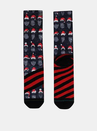 Tmavě modré pánské ponožky s vánočním motivem XPOOOS