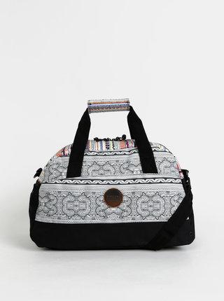 Biela dámska vzorovaná športová taška Rip Curl Gym Bag