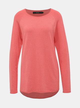 Korálový ľahký basic sveter VERO MODA Nellie