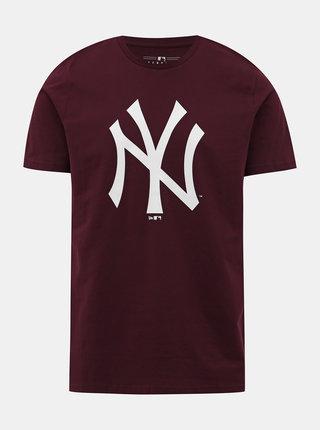 Vínové tričko s potiskem New Era
