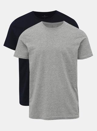 Sada pánských triček v tmavě modré a šedé barvě Tom Tailor