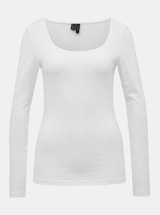 Bílé basic tričko VERO MODA Maxi My