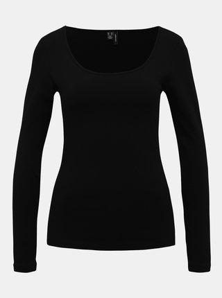 Čierne basic tričko VERO MODA Maxi My