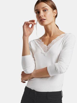 Bílé tričko s krajkou Tom Tailor Denim