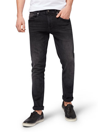 Tmavošedé pánske skinny fit rifle Tom Tailor Denim