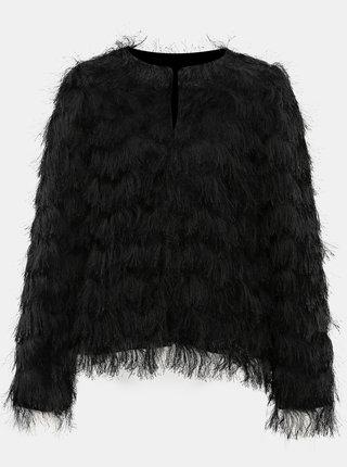 Černé sako s dlouhým vlasem M&Co