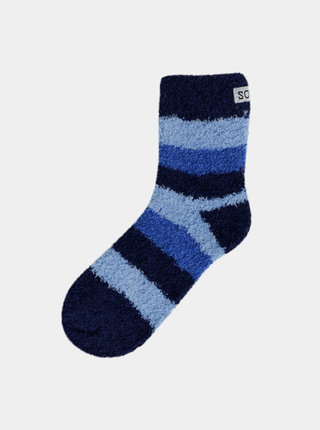 Modré dámske pruhované ponožky Bellinda Soft