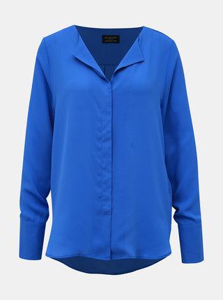 Modrá volná halenka Selected Femme Stina