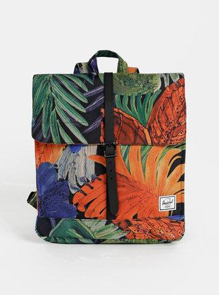 Oranžovo-zelený batoh Herschel Supply City Mid 14 l