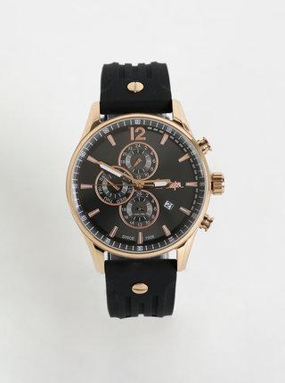 Pánske hodinky so silikonovým remienkom v čiernej farbe Lee Cooper