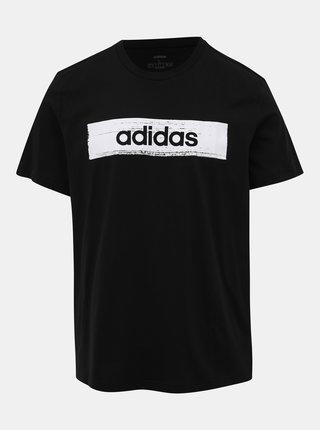 Černé pánské tričko s potiskem adidas CORE