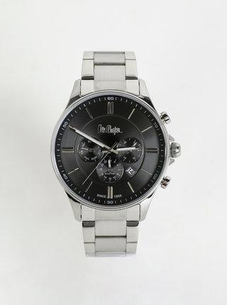 Pánske hodinky s kovovým remienkom v striebornej farbe Lee Cooper