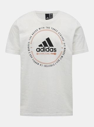 Bílé pánské tričko s potiskem adidas Performance