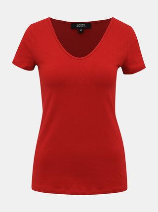 Červené dámske basic tričko ZOOT Dora