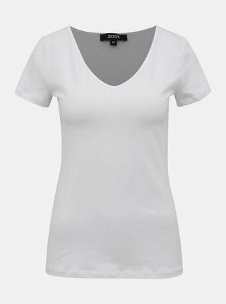 Biele dámske basic tričko ZOOT Dora