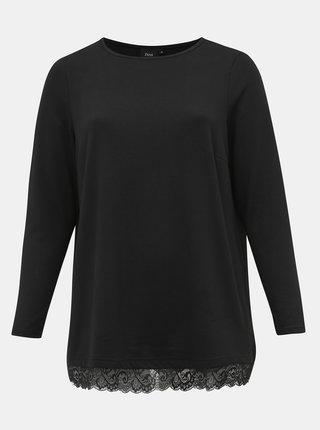 Černý svetr s krajkou Zizzi Lucca
