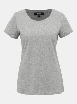 Šedé dámske basic tričko ZOOT Dana
