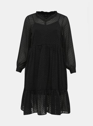 Čierne vzorované šaty Zizzi Paige