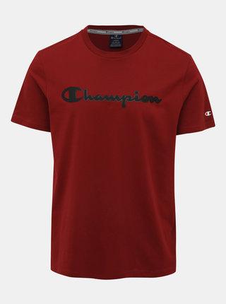 Červené pánské tričko s potiskem Champion