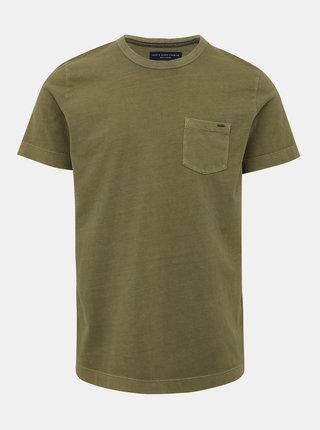 Khaki basic tričko Jack & Jones Brody