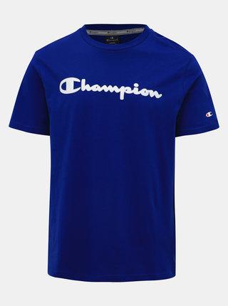 Modré pánské tričko s potiskem Champion
