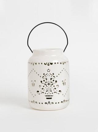 Krémová malá lucerna s vánočním motivem SIFCON