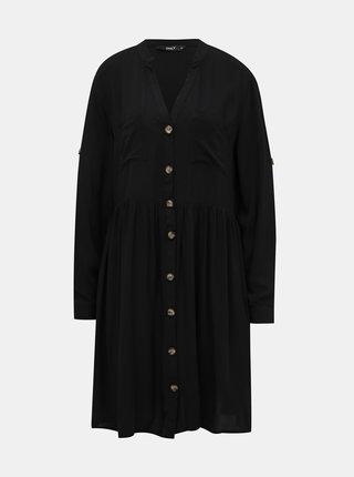 Čierne košeľové šaty ONLY Tallulah