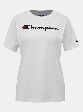 Biele dámske tričko s potlačou Champion