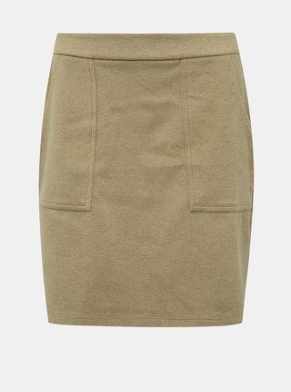 Béžová sukňa s vreckami VERO MODA Felicity