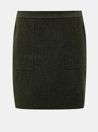 Tmavě zelená sukně s kapsami VERO MODA Felicity