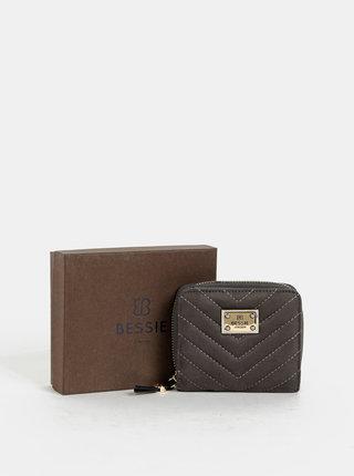 Šedo-modrá peňaženka v semišovej úprave Bessie London